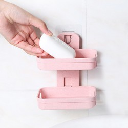 Unique Style Draining Easy Wall Adhesive Soap Dish