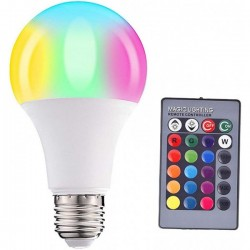 16 Color Changing LED Light Bulb With Remote Control Smart Bulb